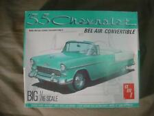 RARE 1955 CHEVY CHEVROLET BEL AIR CONVERTIBLE AMT MODEL 1/16 SCALE SEALED PARTS