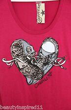 CONVERSE chucks shoes graphic t-shirt magenta pink (S)