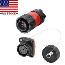 12 Pins Industrial Connector,Male Plug&Female Socket,Waterproof IP67,1/4 Bayonet
