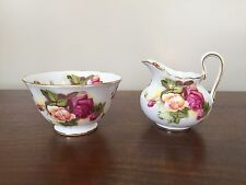 Golden Rose Royal Chelsea Mini Creamer & Open Sugar Bowl ~ England