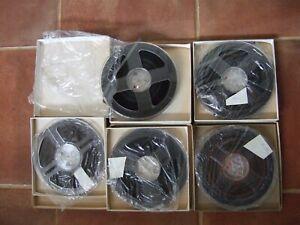 "5 x 7"" unused vintage reel to reel tapes in bags and boxes"