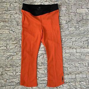 Pearl Izumi Womens Medium Orange Black Flash Crop Leggings NEW