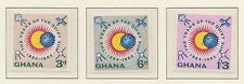 (ZK-38) 1964 Ghana 3set International years of the quiet sun