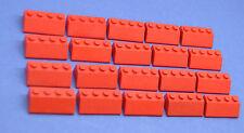 LEGO 20 x Dachsteine rot Schrägstein 2x4 red roof brick 3037 303721