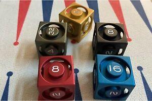 Blue Aluminium 40mm Backgammon Doubling Cube, Board Game