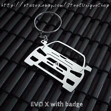 Mitsubishi EVO X Stainless steel Keychain