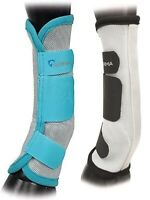 Shires Equestrian Equine Horse Airflow Turnout Socks Teal and Black Pack of 4