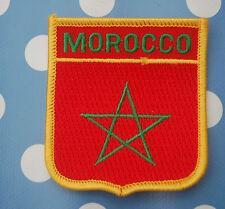 Marokko Marocco Aufnäher Aufbügler Wappen Patch Flagge