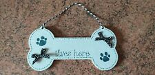 Dog lover's personalised wooden gift