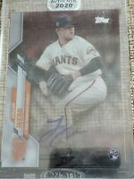 2020 Topps Clearly Authentic Logan Webb RC Auto San Francisco GIANTS