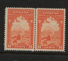 Canada  E3  Mint  NH  pair     catalog  $120.00         MM0508