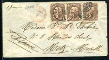 USA 1861 19 per drei BRIEF nach FRANKREICH nicht Perfekt (E7894