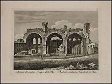 1818c.Inc/Rame.ROMA:AVANZI DEL TEMPIO DELLA PACE. par NIBBY - Parboni-Ruga.
