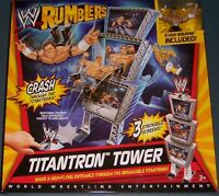 WWE RUMBLERS TITANTRON TOWER EVAN BOURNE ACTION FIGURE INCLUDED NEW IN BOX!