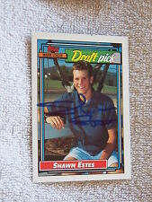 Seattle Mariners Shawn Estes Signed 1992 Topps Draft Pick Card Auto
