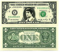 BRUCE LEE VRAI BILLET DOLLAR US! Collector karate art martiaux Kung Fu Wing Chun