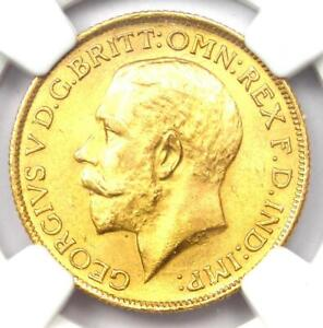 1925-S Australia England George V Gold Sovereign Coin 1S - NGC MS64 (UNC MS)