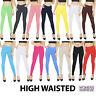Womens High Waisted Cotton Leggings Full Length NOT SEE THROUGH V1
