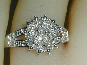BEAUTIFUL~ NVC- NATALIYA V COLLISTER STERLING PAVE DIAMOND RING- SIZE 6!