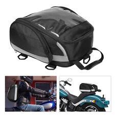 Motorcycle Tail Bag Backpack Rear Seat Travel Luggage Helmet Holder Waterproof