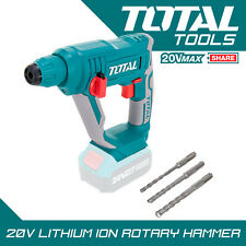 Total des outils 20 V Li-ION SDS Rotary Perceuse à percussion sans fil Batterie ...