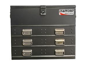 STAFFORD INDUSTRIAL 3 DRAWER CHARCOAL FLAT TOP TOOL BOX