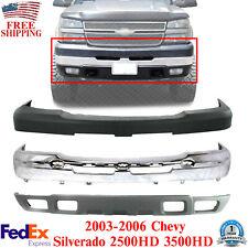 Front Bumper Chrome Kit For 2003 2006 Chevrolet Silverado 2500hd 3500hd Fits 2005 Chevrolet Silverado 2500 Hd Ls