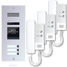 Gegensprechanlage RFID Türsprechanlagen Klingelanlage 3 familienhaus ES3AID DJ4A