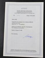 """Berlin Rotaufdruck Mi-Nr. 21 bis 34 postfrisch Fotoattest Schlegel """"einwandfrei"""""""