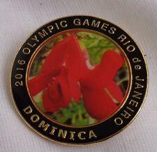 Dominica Rio de Janiero 2016 Brazil  Olympic Pin Pinback Caribbean collectible