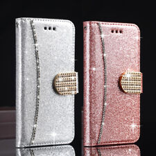 Diamond Crystal Magnetic Leather Flip Wallet Case Cover For iPhone 12 Xs Max 11