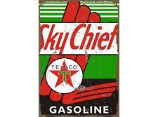 NEW Texaco Sky Chief tin metal sign