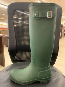 Hunter Rain Tall Left Boot Only Size 8 Green