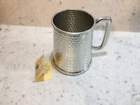 Full Hammered Sheffield Pewter Tankard One Pint William Widdop Pewter Brand New