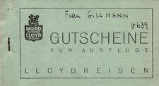 """Norddeutscher Lloyd Herbstreise 1934 Dampfer """"Sierra Córdoba"""" Gutscheinheft"""