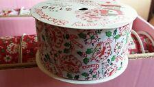"Vintage Strawberry Shortcake Holiday White Candy Cane ribbon 8ft. 2"" craft"