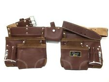 Leather Gold  CLASSIC  10-Pocket Leather Nail & Tool Apron Carpenter Belt
