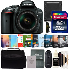 Nikon D5300 DSLR Camera w/ 18-55mm Lens and Photo and Video Editing Software Kit