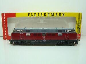 FLEISCHMANN - HO - 1384 - LOCOMOTIVE DIESEL 221 131-6 - DB - BOITE - ANCIEN -