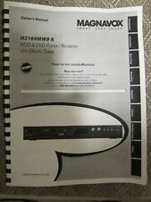 Magnavox H2160MW9 H2160MW9A operating user owner's instruction manual