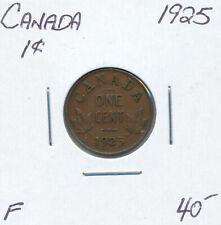 CANADA SMALL CENT GEORGE V 1925 - F