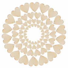 00Pcs Mixed 4Sizes Rustic Wooden Love Heart Wedding Table Scatter Decoration