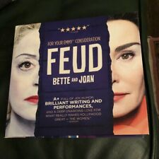 2017 FEUD Bette And Joan DVD promo screener FX rare Emmy FYC 3 Episode 1 DVD