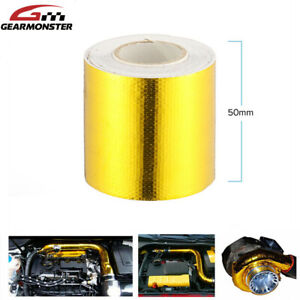 Heat Shield Wrap Tape Car Motorcycle Exhaust Pipe Adhesive Reflective Foil 5M UK