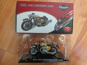 1/24 ATLAS IXO CLASSIC MOTOR BIKES - BSA A65 LIGHTNING 1965 BIKE MOTORCYCLE