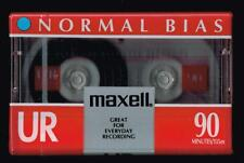 Maxell UR90 90 Minutes Normal Bias Blank Audio Cassette Tape IEC Type 1 EQ 120