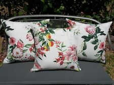 Outdoor Pink White Lily Fruit Pretty Floral Cushion Cover 45cm size Au Handmade