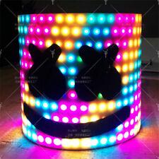 Original MarshMello DJ Mask Tiesto LED Head Helmet Cosplay Bar Music Party Props