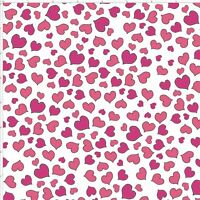 Loralie Designs Mini Hearts Pink on White Background Fabric Cotton By The Yard
