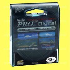 Genuine Kenko 58mm Pro1 D Digital Circular CPL Filter Pro1D CIR C-PL Polarizer